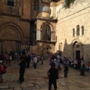 В тот день было мало народа - накануне произошлонападение палестинцев на израильтянина