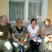 Сергей, Лена, Лола, Лидия Борисовна Либединская. Малеевка. 2003