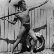 Мой папа – в «спортивной позе». Парк культуры и отдыха им. Горького. 1938 год